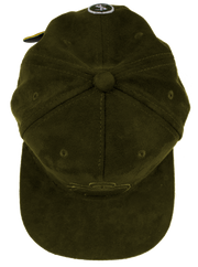 PMH SUEDE ARMY GREEN BANK CAP
