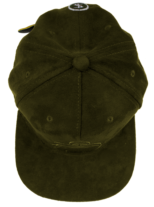 PMH SUEDE ARMY GREEN BANK CAP - Place Money Here