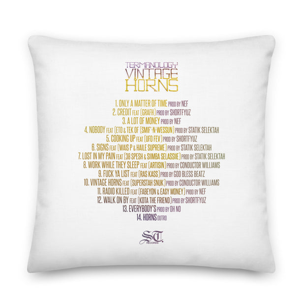 Termanology Vintage Horns Pillow