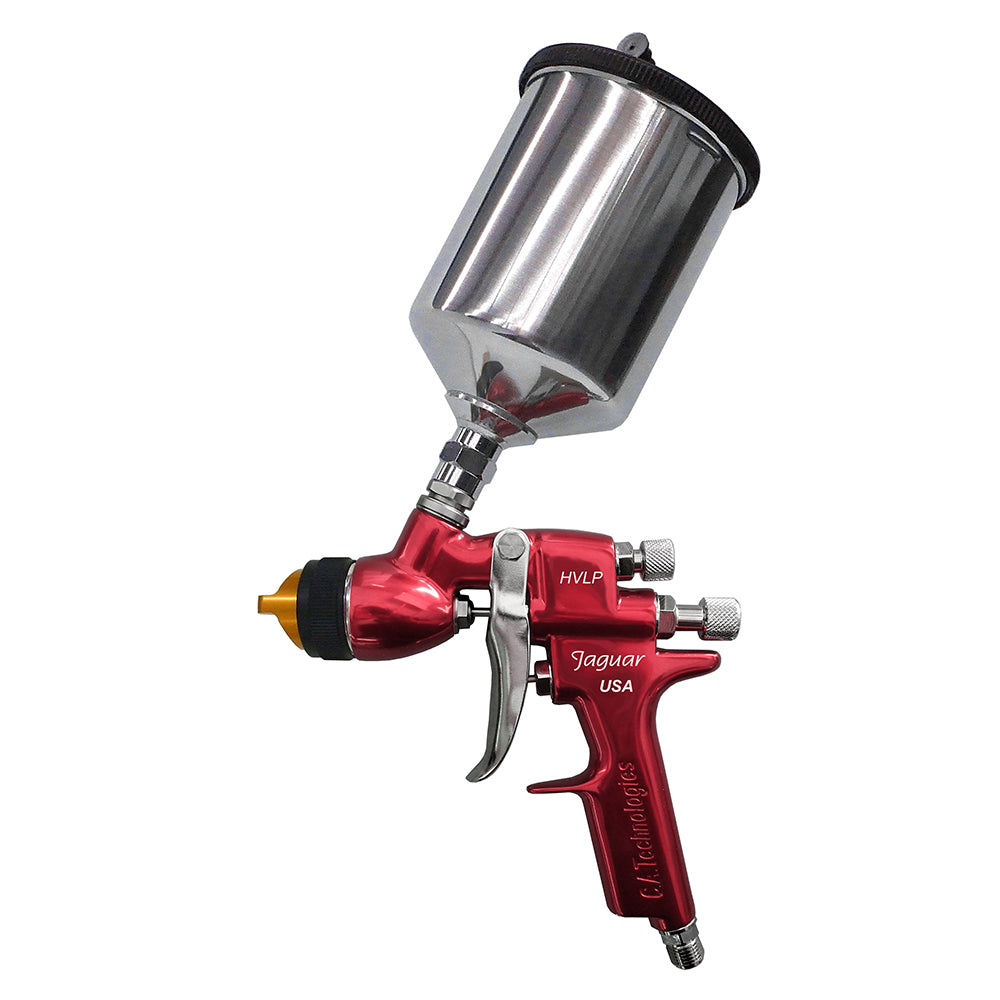 C.A. TECHNOLOGIES JAGUAR 100H (J100H) HVLP GRAVITY FEED SPRAY GUN - CAT PACK