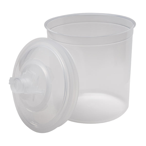 3M PPS 650 ml (22 oz.) Disposable Liners & Lids (200 Micron Filter) – 50 Pack (16000)