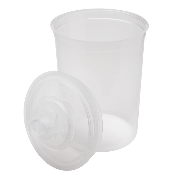 3M PPS 850 ml (28 oz.) Disposable Liners & Lids (200 Micron Filter) – 25 Pack (16024)