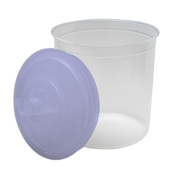 3M PPS 650 ml (22 oz.) Disposable Liners & Lids (125 Micron Filter) – 50 Pack (16301)