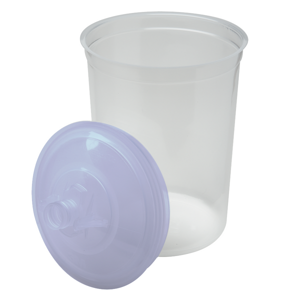 3M PPS 850 ml (28 oz.) Disposable Liners & Lids (125 Micron Filter) – 25 Pack (16325)