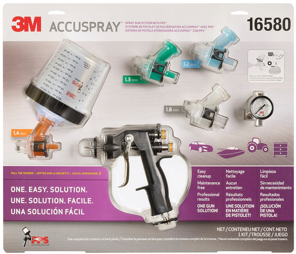 "3M Accuspray HG ""All In One"" HVLP Gravity Feed Spray Gun Package"