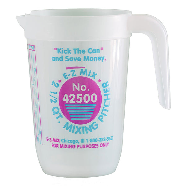 E-Z Mix 2.5 Quart (80 oz.) Disposable Measuring & Mixing Pitcher