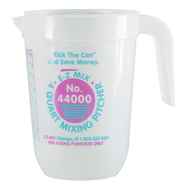 E-Z Mix 4 Quart (128 oz.) Disposable Measuring & Mixing Pitcher