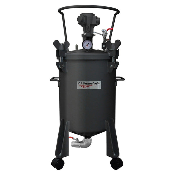 C.A. Technologies 5 Gallon Paint Pressure Tank - Bottom Outlet with Pneumatic Agitation (mixer)