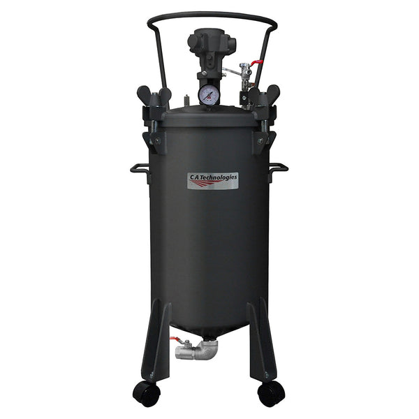C.A. Technologies 10 Gallon Paint Pressure Tank - Bottom Outlet with Pneumatic Agitation (mixer)