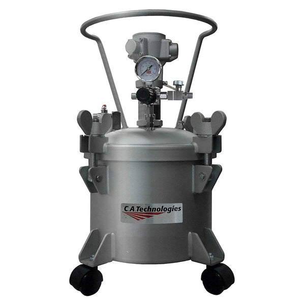 C.A. Technologies 2.5 Gallon Stainless Steel Paint Pressure Tank with Pneumatic Agitation (mixer)
