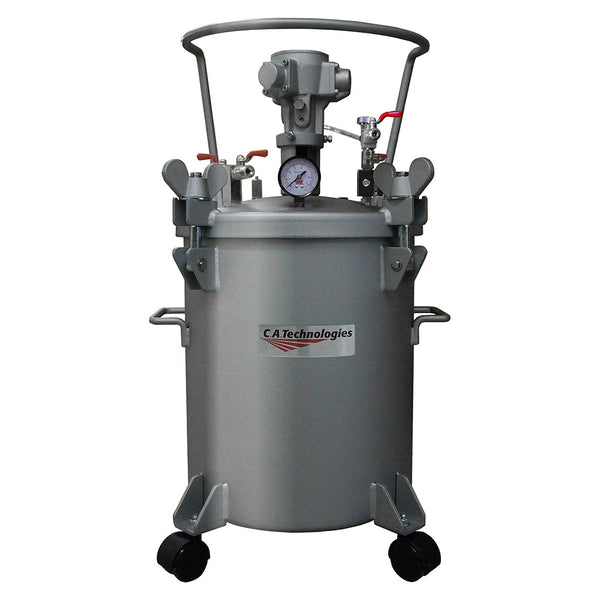 C.A. Technologies 5 Gallon Stainless Steel Paint Pressure Tank with Pneumatic Agitation (mixer)