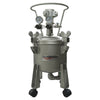 C.A. Technologies 2.5 Gallon Stainless Steel Paint Pressure Tank - Bottom Outlet with Pneumatic Agitation (mixer)
