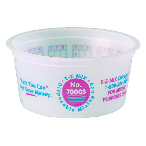 E-Z Mix ¼ Pint (3 oz.) Disposable Measuring & Mixing Cups