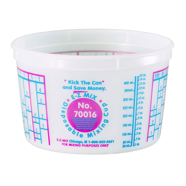 E-Z Mix 1 Pint (16 oz.) Disposable Measuring & Mixing Cups