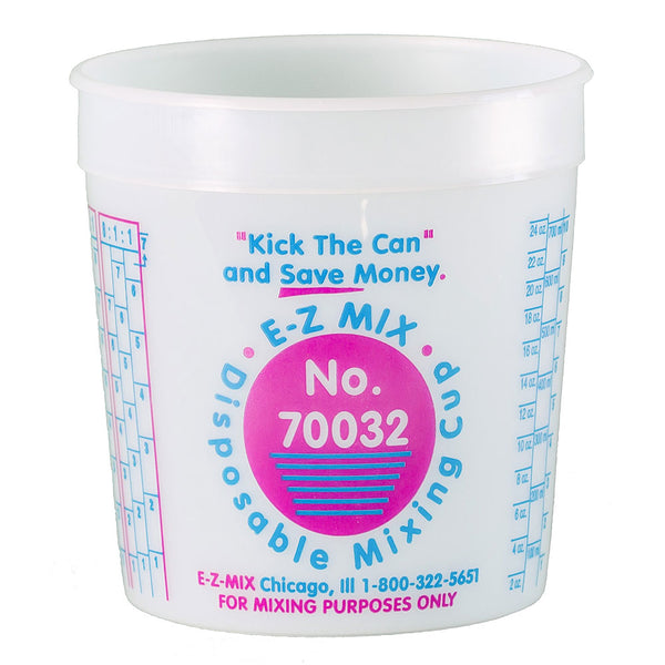 E-Z Mix 1 Quart (32 oz.) Disposable Measuring & Mixing Cups