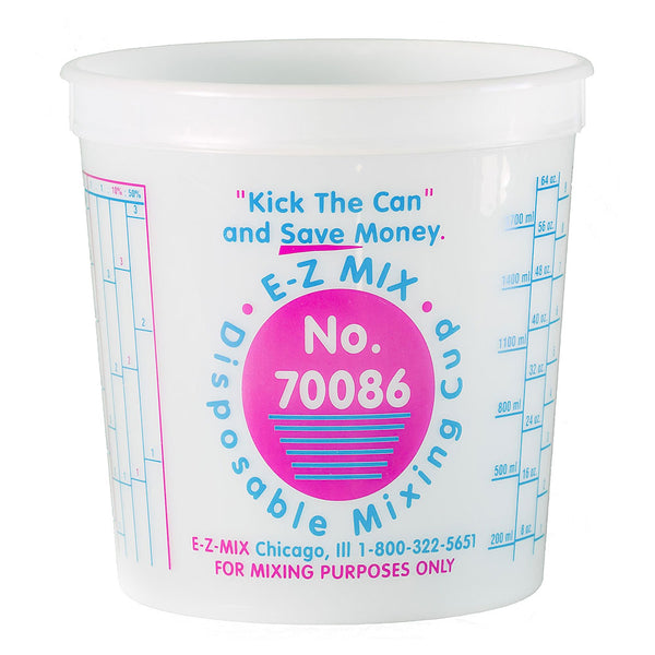 E-Z Mix 2.5 Quart (80 oz.) Disposable Measuring & Mixing Cups
