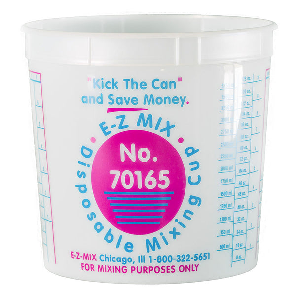 E-Z Mix 5 Quart (160 oz.) Disposable Measuring & Mixing Cups (25 per Case)
