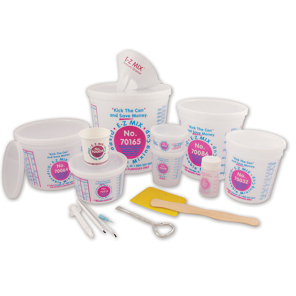 E-Z Mix Cup & Lid Assortment Box