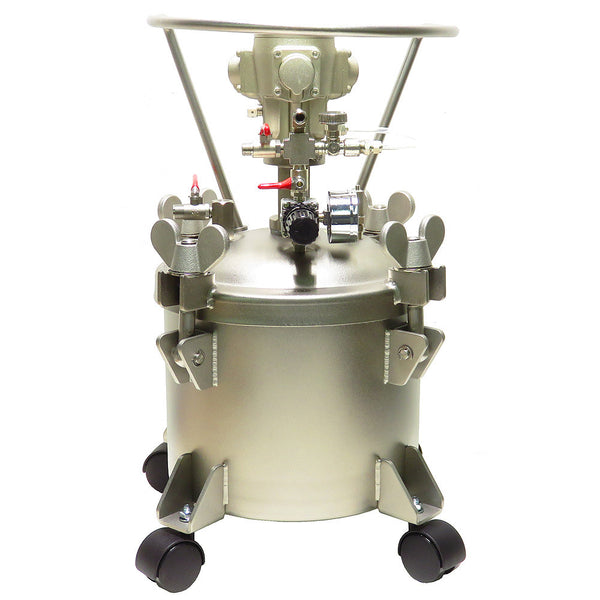 Performance Series 2.5 Gallon Stainless Steel Paint Pressure Tank with Pneumatic Agitation (mixer)