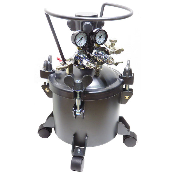 Performance Series 2.5 Gallon Paint Pressure Tank with Pneumatic Agitation (mixer)