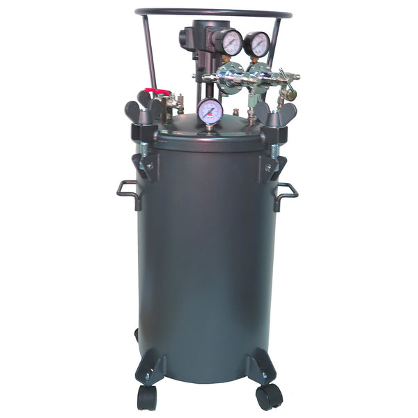 Performance Series 10 Gallon Paint Pressure Tank with Pneumatic Agitation (mixer)