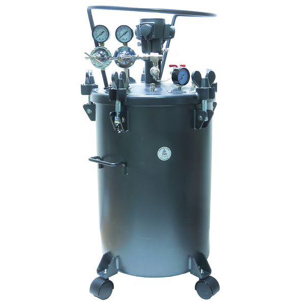 Performance Series 20 Gallon Paint Pressure Tank with Pneumatic Agitation (mixer)
