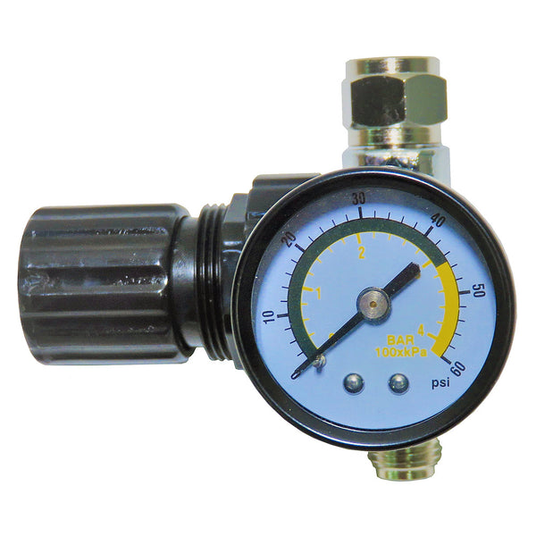 Diaphragm Air Regulator & Gauge for HVLP Spray Guns (0-60 psi)