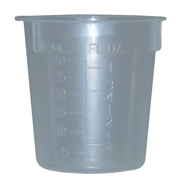 1 oz. (30 ml) & 3 oz. (100 ml) Beakers - Measuring Cups
