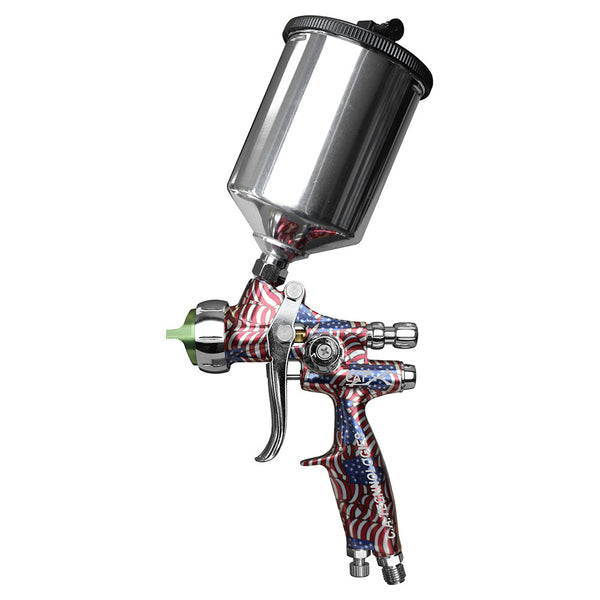 "C.A. Technologies CAT-X Gravity Feed HVLP & RP Spray Gun (Model ""F"" - American Flag)"