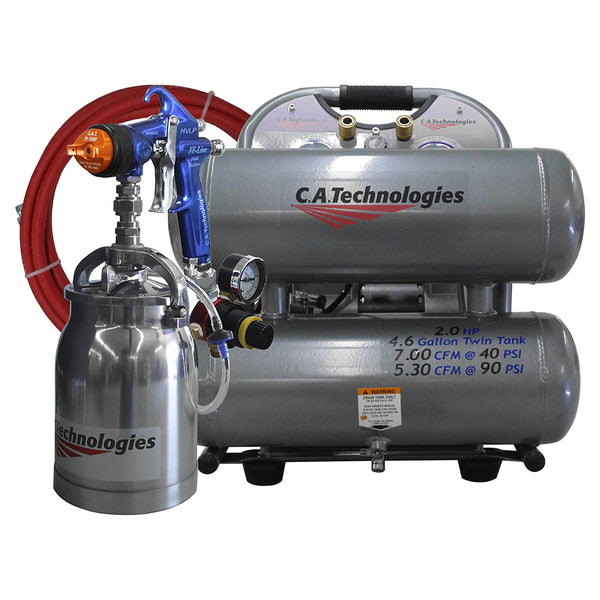 C.A. Technologies GO Portable Compressor HVLP Pressure Feed Spray System – (1 Quart Cup)