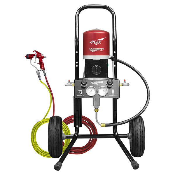 C.A. Technologies Air-Assist-Airless (AAA) 14:1 Bobcat Peak Performance Pump - Cart Model Set-up