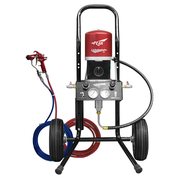C.A. Technologies Air-Assist-Airless (AAA) 14:1 Cougar Peak Performance Pump - Cart Model Set-up