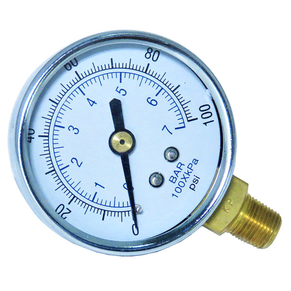 Gauge - Glass Lens (0-100 psi)