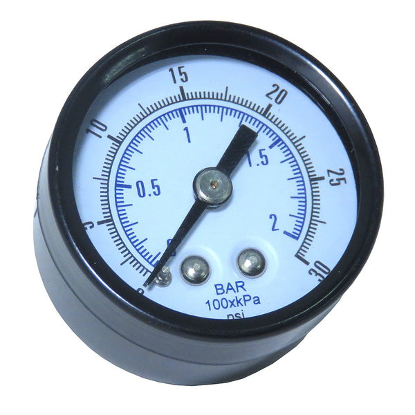 Gauge - Glass Lens (0-30 psi)