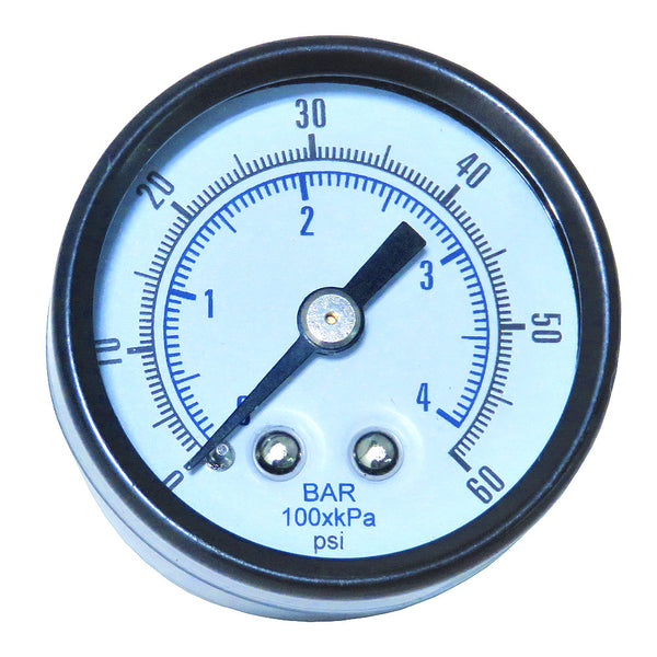 Gauge - Glass Lens (0-60 psi)