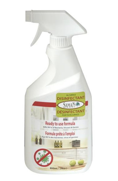 SamaN All Surface Disinfectant & Heavy Duty Cleaner – 800 ml Spay Bottle (UAD-800)