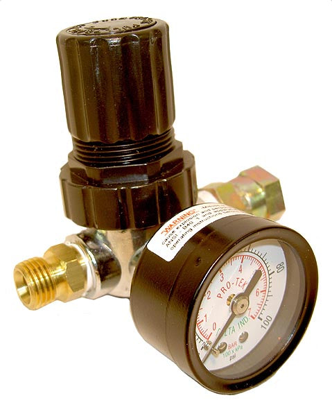 Diaphragm Air Regulator & Gauge for Conventional Air Spray or HVLP Spray Guns (0-100 psi)
