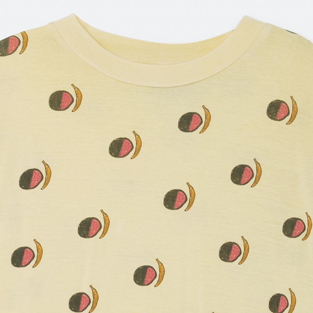 The Animals Observatory Rooster Kid's T-Shirt in Soft Yellow Fruit | BIEN BIEN