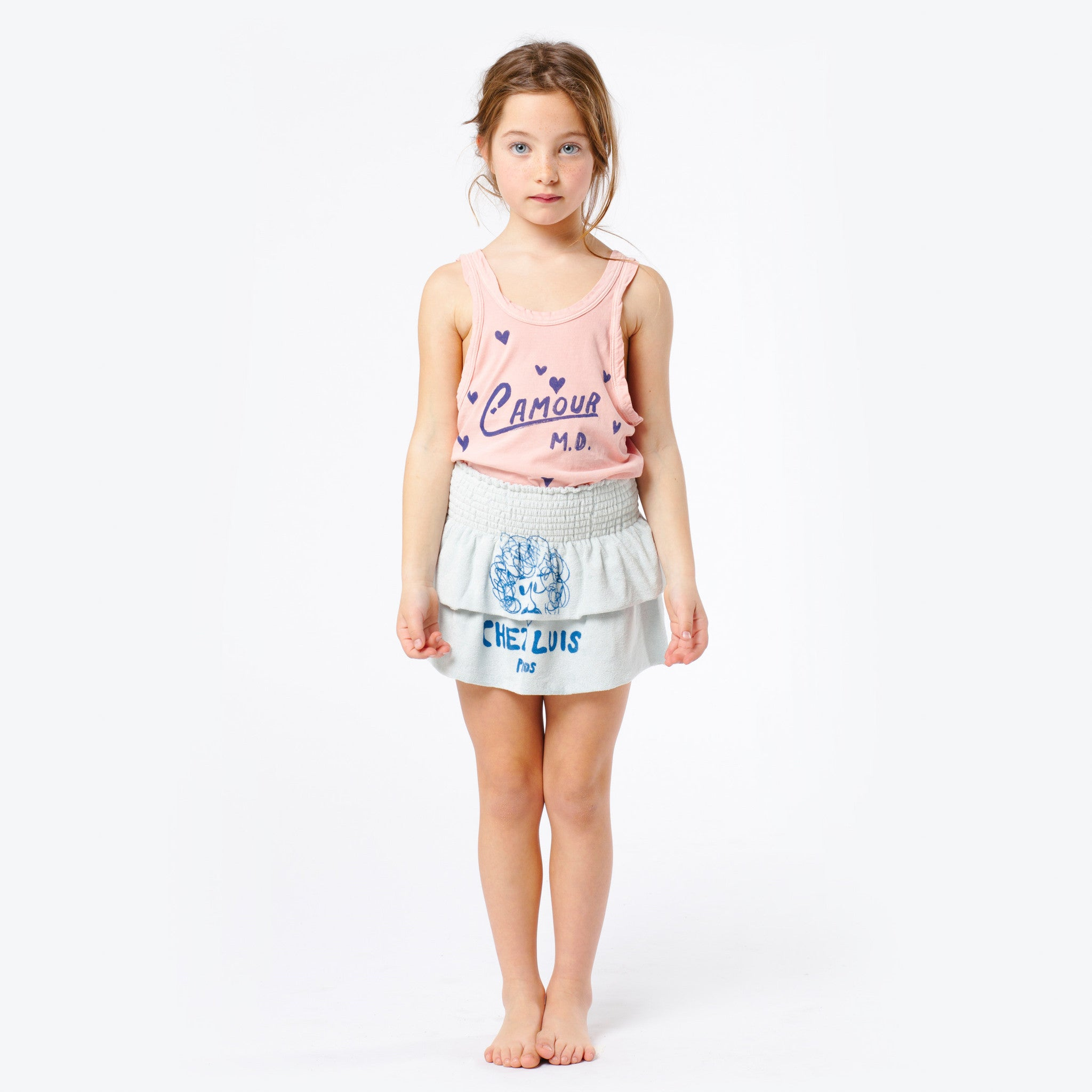 The Animals Observatory Frog Kid's T-Shirt in Pink L'Amour | BIEN BIEN