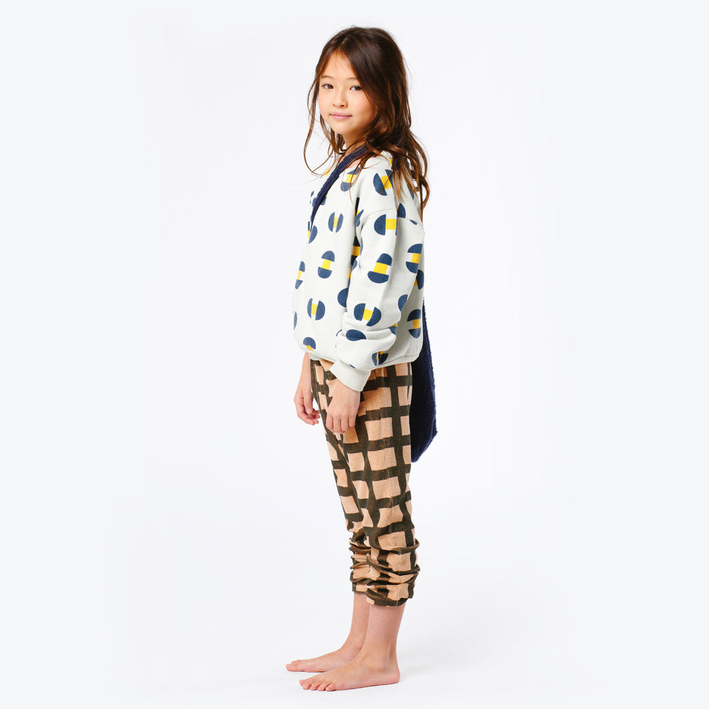The Animals Observatory Buffalo Kid's Pants in Toffee Squares | BIEN BIEN