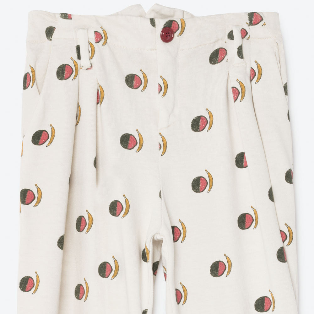The Animals Observatory Beaver Kid's Pants in Raw White Fruit | BIEN BIEN