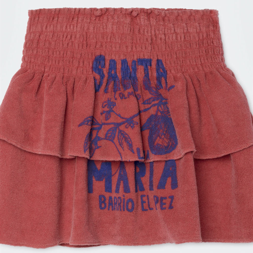 The Animals Observatory Kiwi Kid's Skirt in Maroon Santa Maria | BIEN BIEN