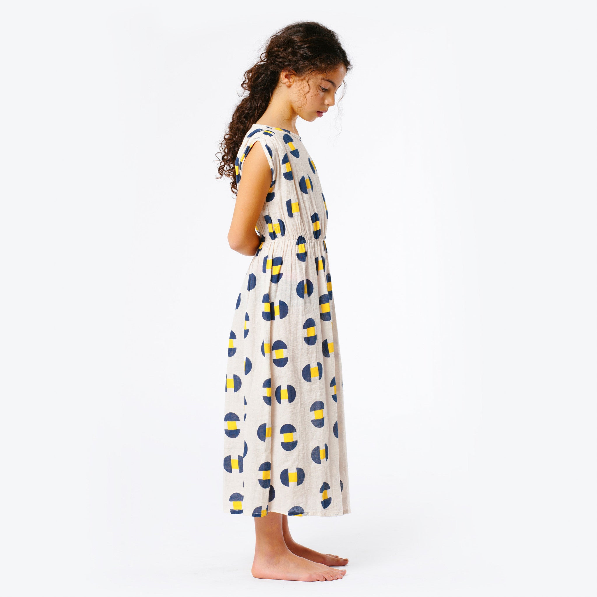 The Animals Observatory Marten Girl's Dress in Geometric | BIEN BIEN