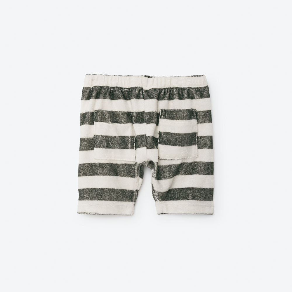 The Animals Observatory Seal Baby Bermudas in Raw White Stripes | BIEN BIEN