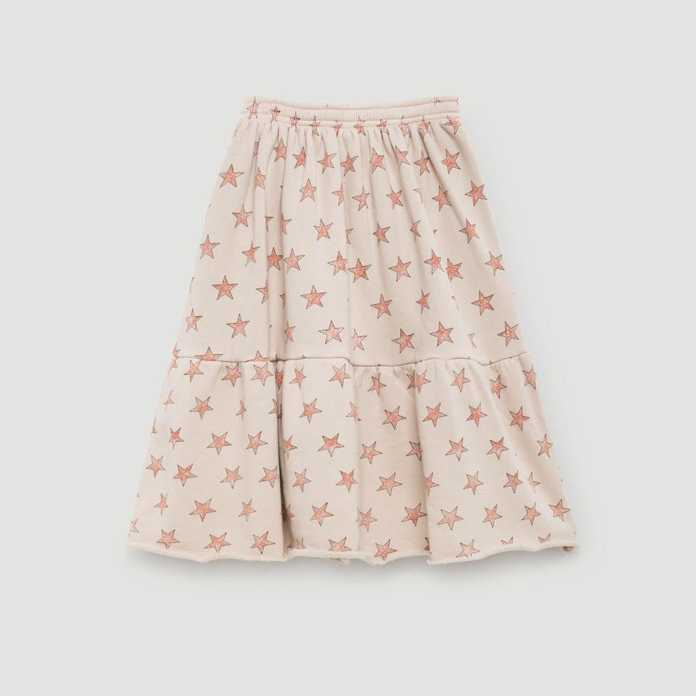 The Animals Observatory Cat Girl's Flared Skirt in Pink Stars | BIEN BIEN