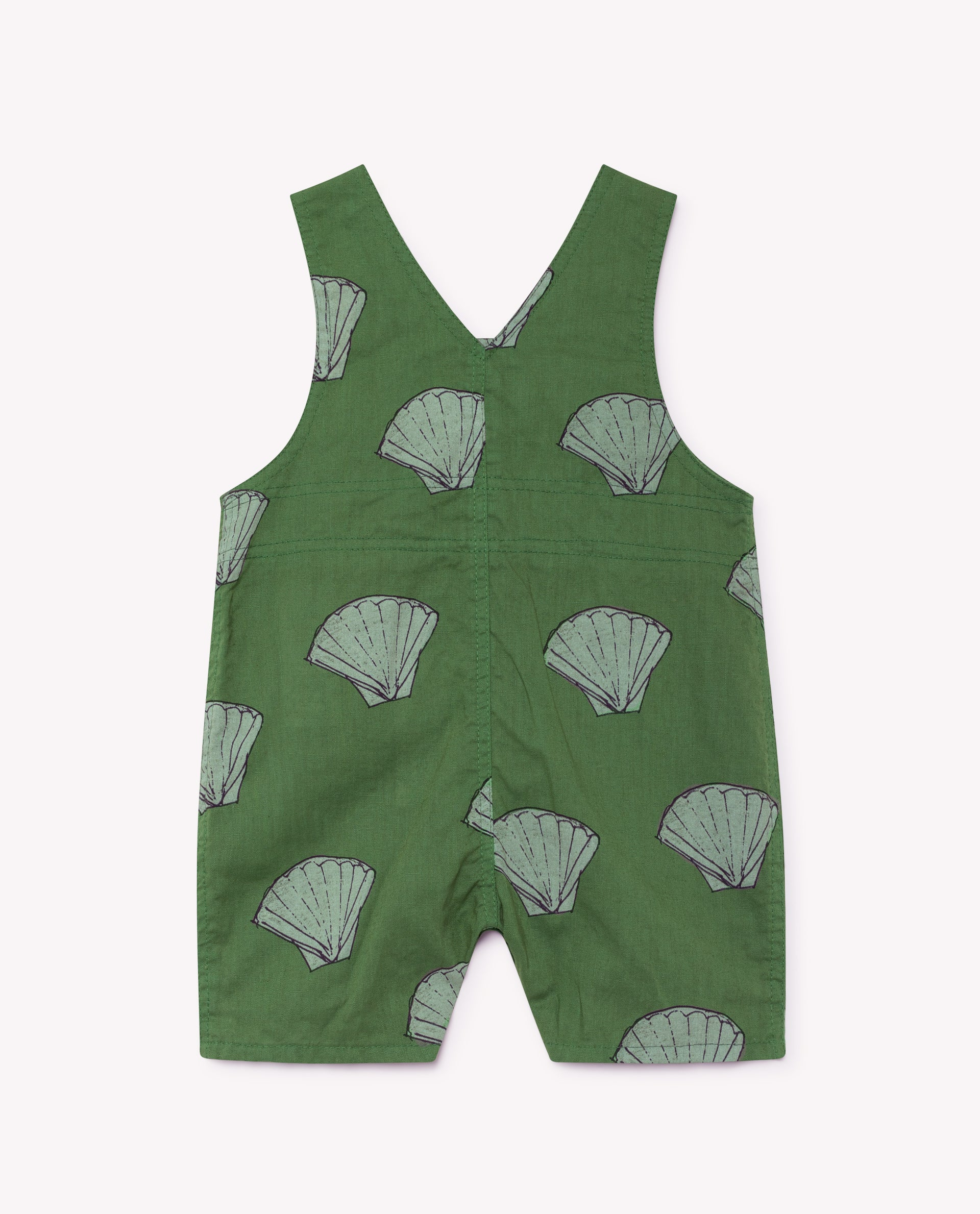 The Animals Observatory Goose Baby Romper in Green Shells | BIEN BIEN