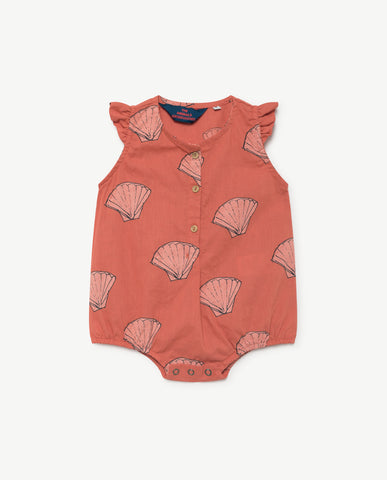 The Animals Observatory Butterfly Baby Romper in Red Shell | BIEN BIEN