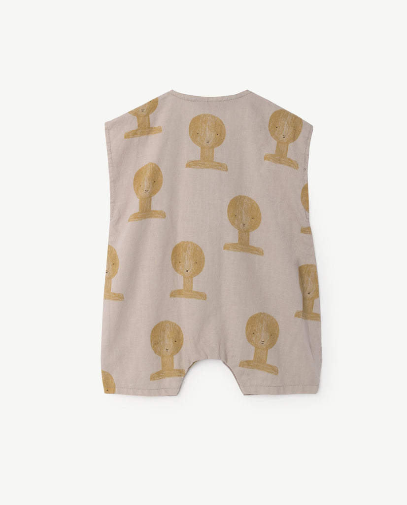 The Animals Observatory Bird Baby Romper Beige TAO Busts | BIEN BIEN