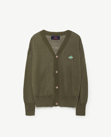 The Animals Observatory Peasant Cardigan Military Green | BIEN BIEN