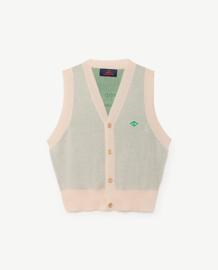 The Animals Observatory Blacksmith Kid's Vest Soft Beige | BIEN BIEN